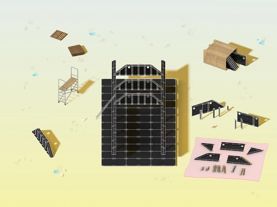 MOS Studio designs semi-permanent education pavilion in Versaille