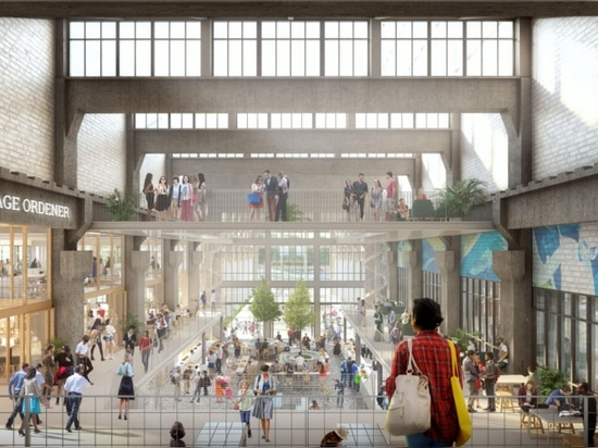 SLA and Biecher Architectes win competition for transformation old central railway site with Jardin Mécano
