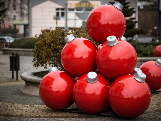 large christmas baubles for public spaces - terrachristmas