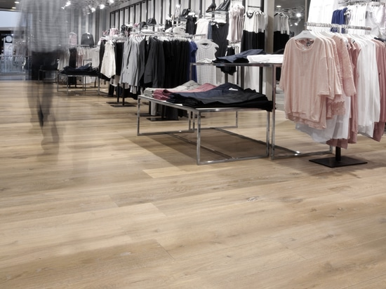 Dennebos engineered oak floor in a custom made color