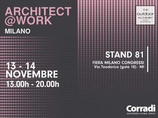 Architect @ work 2019 Milan