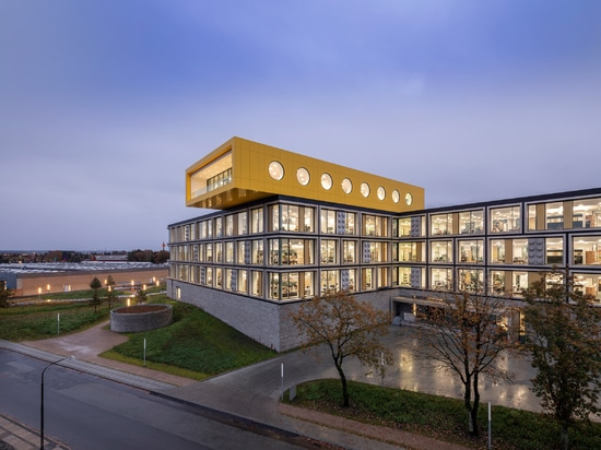 CF Møller Architects incorporates giant bricks in facades of Lego office