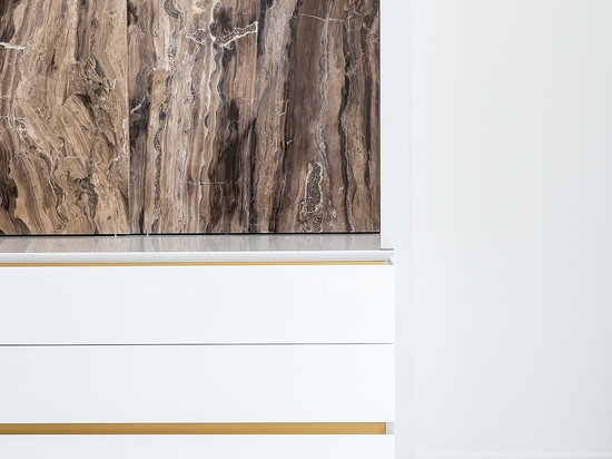Kitchen with bespoke three-dimensional door decoration