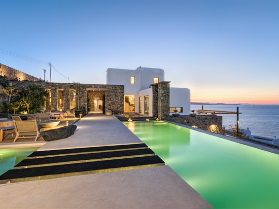 Dream House with ethanol fireplace in Mykonos Island