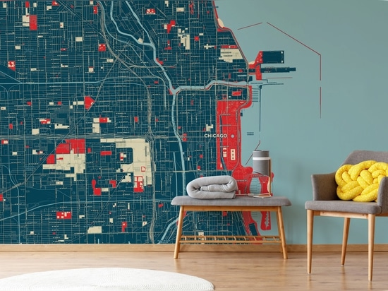 Chicago map mural in our Hope style