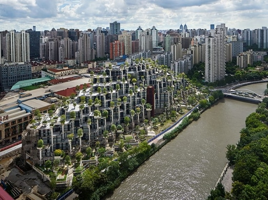 heatherwick studio's mixed-use '1000 trees' development takes shape in shanghai