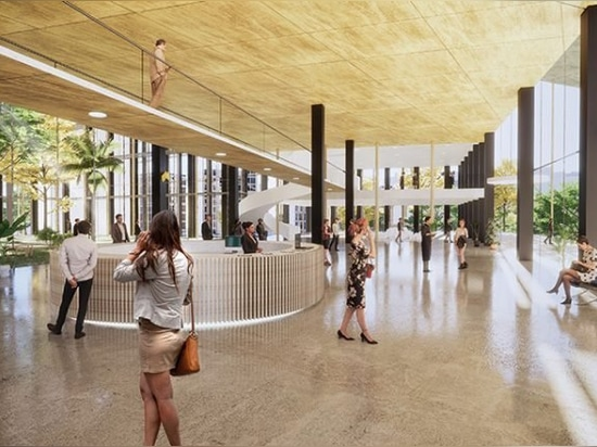 bjarke ingels group to complete milan's citylife district with 'the portico'