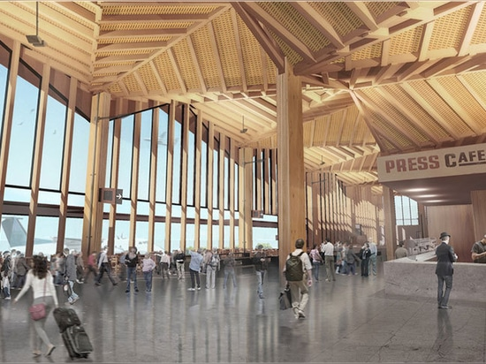 Nelson Airport's futuristic new terminal building will utilize local timber materials and technologies.
