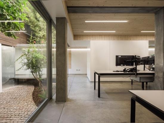 Office inside a block