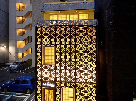 An Artistic Facade Gives This Small Japanese Hotel A Unique Personality