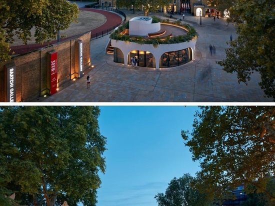 The Vardo Restaurant In London Has A Spiraling Design With A Rooftop Deck