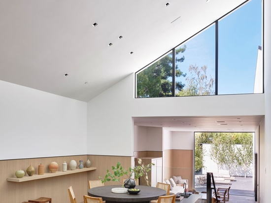 A Peaked Roof Allows For High Ceilings Throughout This California Home