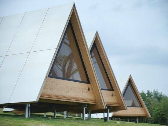 Families in China create an eco-community of timber, A-frame cabins