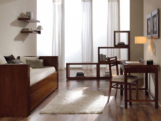 Elegant youth bedroom atmosphere,
