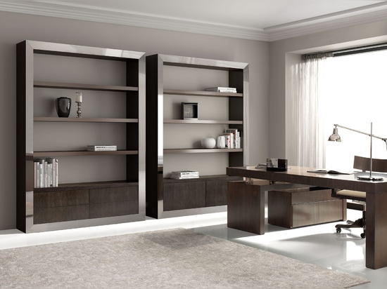 Elegant bookcases for executive office