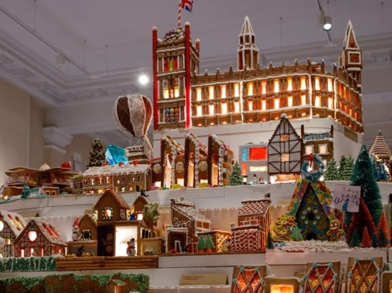 "The Museum of Architecture's annual Gingerbread City has been baked and built according to the theme ""transportation""."