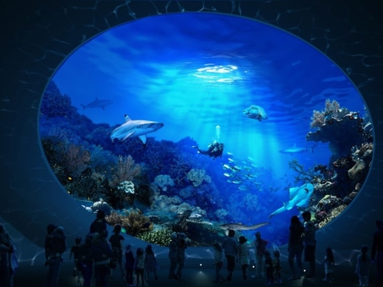 "A ""Sharkulus"" will allow visitors to gaze into a 325,000-gallon tank teeming with marine life."