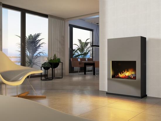 bergamo Torretta [free-standing or wall-mounted electric / ethanol fireplace]