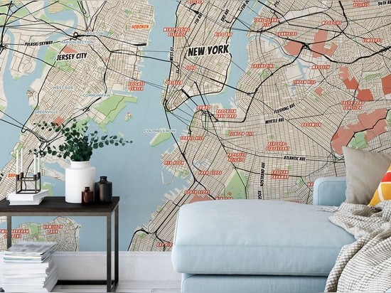 New York City mural Map Comic Book