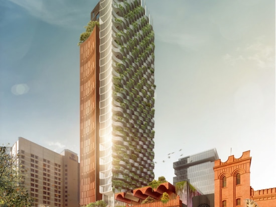 Central to the redevelopment is a 35-story, mixed-use tower featuring biodiverse terraces and a public access rooftop