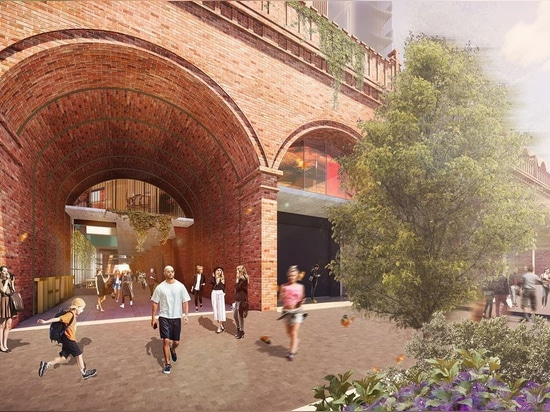 The firm plans on reinstating arches and brickwork that reference one of the market's historic facades that were demolished in the 1960s.