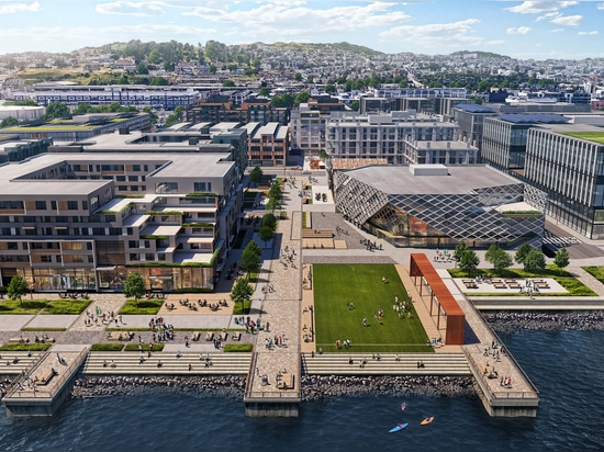 Aerial view of the potential Pier 70 site (Courtesy Brookfield Properties and Design Distill)