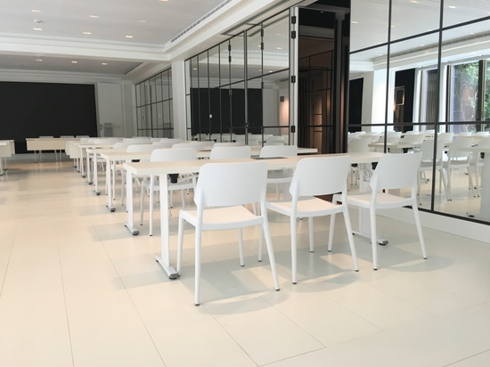 Custom made conference tables with power sockets
