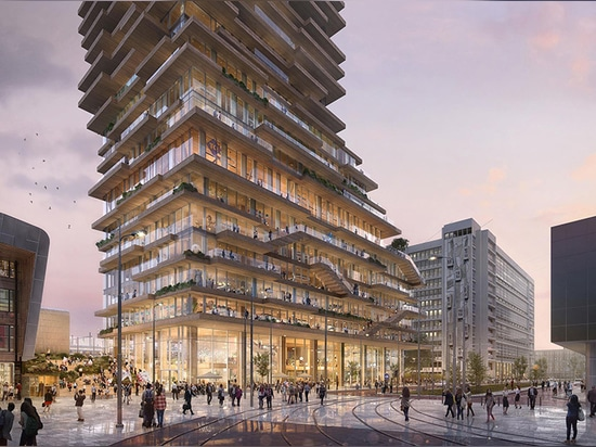 PLP Architecture Selected To Design Holland's Tallest Timber Tower With Concrete Core