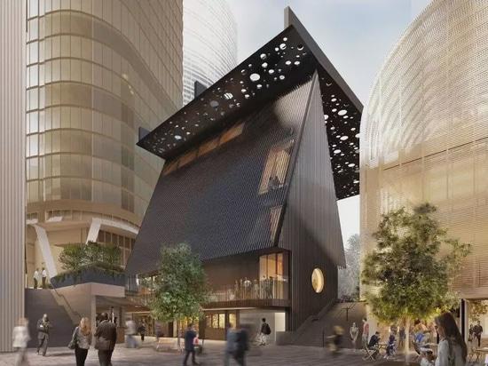 David Adjaye, Daniel Boyd collaborate on public plaza and building in Sydney