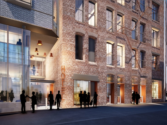 Historic hat factory reimagined as modern hotel