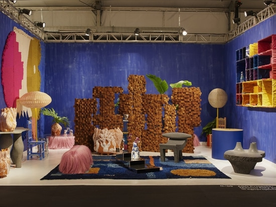 Mexico city gallery AGO Projects' colorful Design Miami booth.