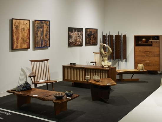 Philadelphia's Moderne Gallery brought a collection of work that included a stunning George Nakashima credenza.