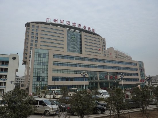 Wuhan's main hospital is overcrowded, leading local authorities to build prefab hospitals for added support.
