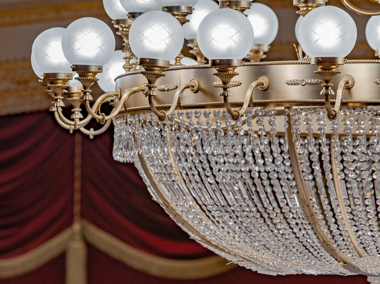 Murano glass chandelier galli theater