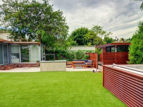 The clients upgraded this kitHAUS project with a green energy package that includes a cistern for rainwater collection.
