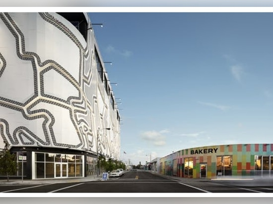 Faulders Studio's striking facade adds rowdy patterning to Miami's Wynwood arts district
