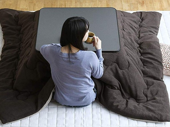 Japanese Kotatsu Table with Heated Blanket