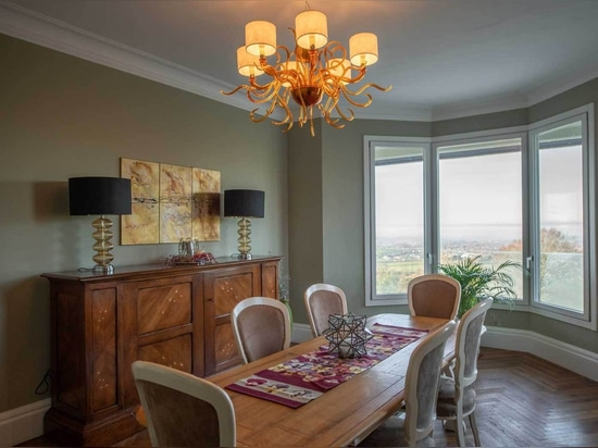 Modern and Classic design chandeliers for luxury villa in London.