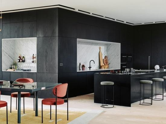 The largest penthouse at the Television Centre residential development has been designed by AHMM with interior design by Waldo Works.