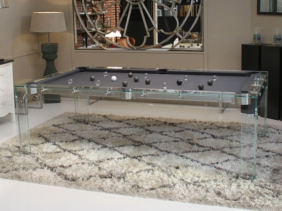 The design Pool table in glass : Carat Light