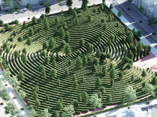 Precht designs Parc de la Distance for outdoor social distancing