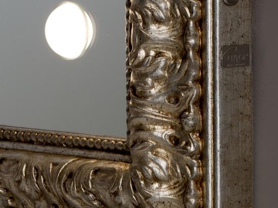 framed lighted mirror