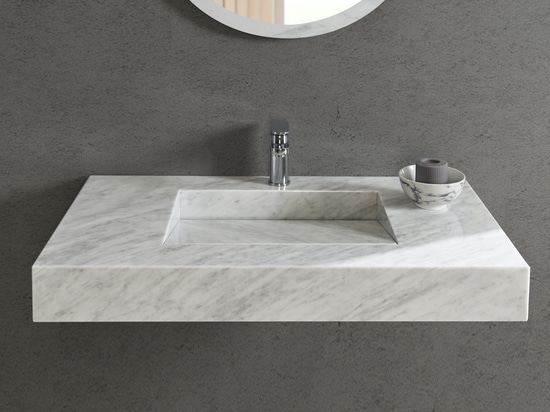 Carrara Marble Tennessee Wall Mounted Washbasin