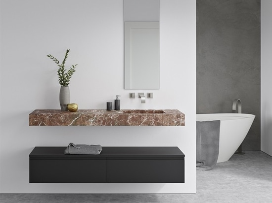 Rosso Levanto Marble Wall Mounted Washbasin