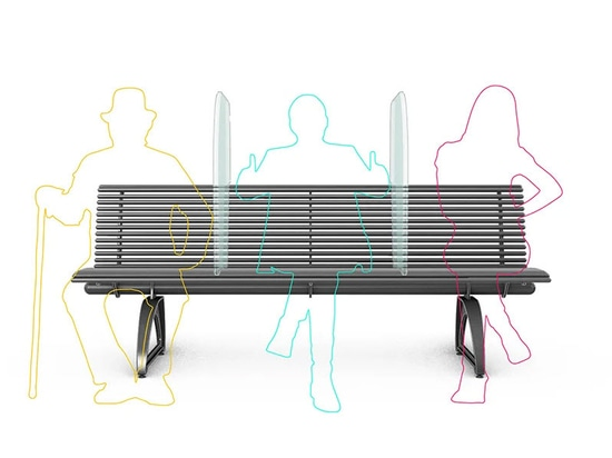 'Shield' is a bench to fight COVID-19 designed by Antonio Lanzillo & Partners