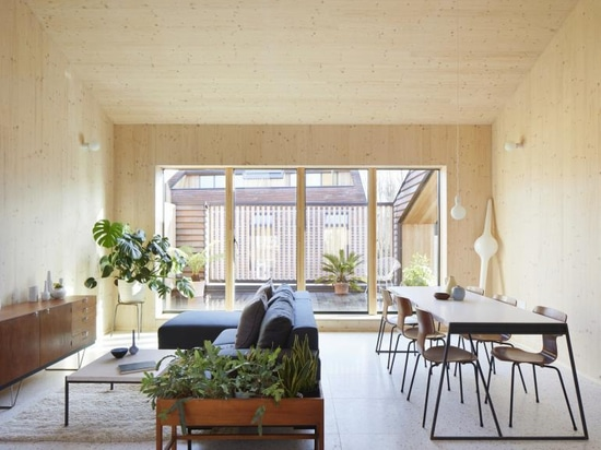 Tikari Works' Peckham Rye apartments feature calming wooden interiors