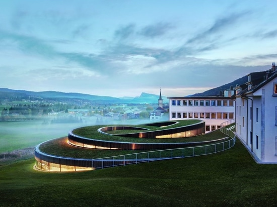 The Musée Atelier Audemars Piguet is situated in the Jura Mountains and blends in with the landscape.