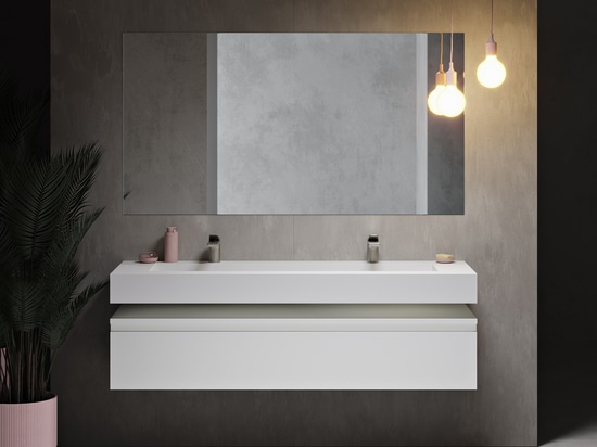 Area Corian® Glacier White Wall-mounted Washbasin