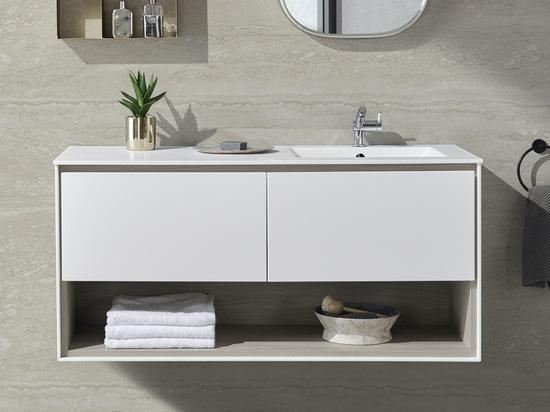 Refresh Corian® Glacier White Carthage Wall-mounted Vanity Unit