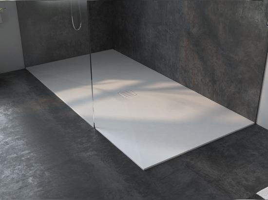 Made to measure Liege Corian® Glacier White Shower Tray